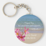 Beach Plumeria Personalised Key Ring Wedding