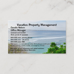 Property management business cards zazzle nz beach property vacation real estate business card reheart Choice Image