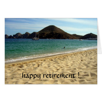 beach retirement greeting card