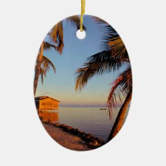 Beach Roatan Honduras Christmas Ornament