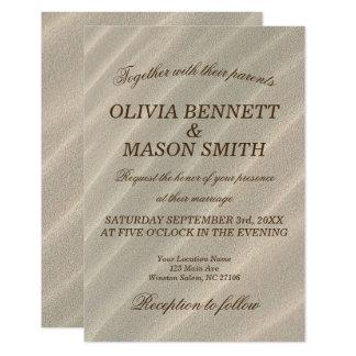 Beach Sand Textured Wedding Invitation