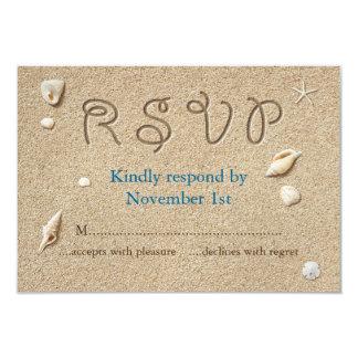 Beach Sandy Toes Salty Kisses RSVP 9 Cm X 13 Cm Invitation Card