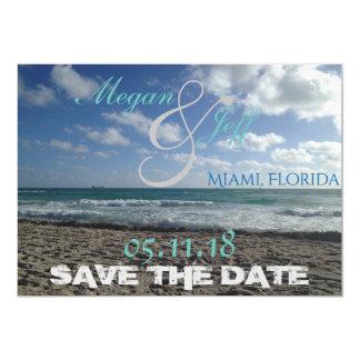 Beach Save the Date 13 Cm X 18 Cm Invitation Card