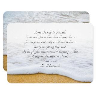 Beach Scene Wishing Well Wording Idea Cards
