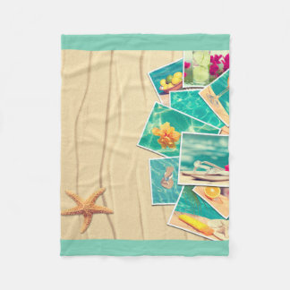 Beach scenes fleece blanket