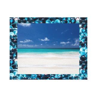 Beach Sea and Salt Water on canvas Canvas Print