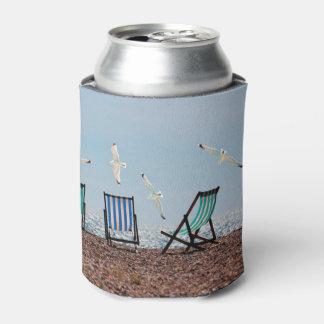 Beach Seagulls and Deckchairs