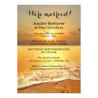 Beach Sunset Wedding Reception Photo Invitation