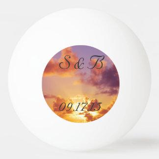 Beach Sunset Wedding Special Ping Pong Ball