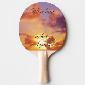 Beach Sunset Wedding Special Ping Pong Paddle