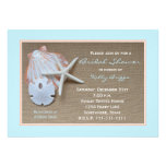 Beach Theme Bridal Shower Invitation -- Burlap