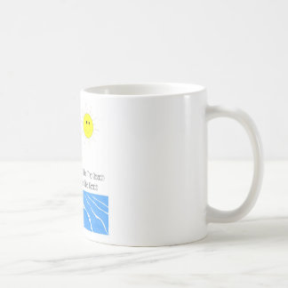 Beach theme coffee or tea mug