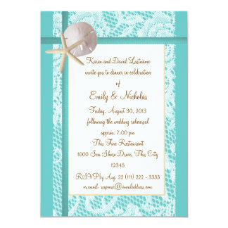 Beach Theme Rehearsal Dinner Card