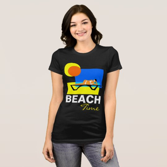 Beach Time funny customisable T-Shirt