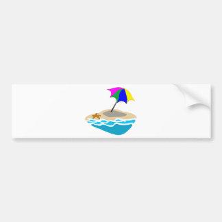 Beach Umbrella Bumper Stickers