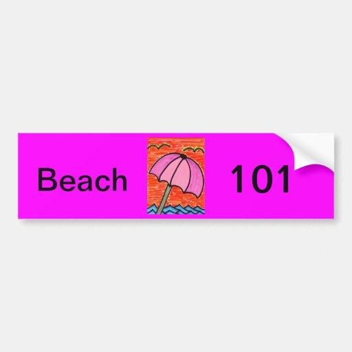 Beach Umbrella Bumper Sticker
