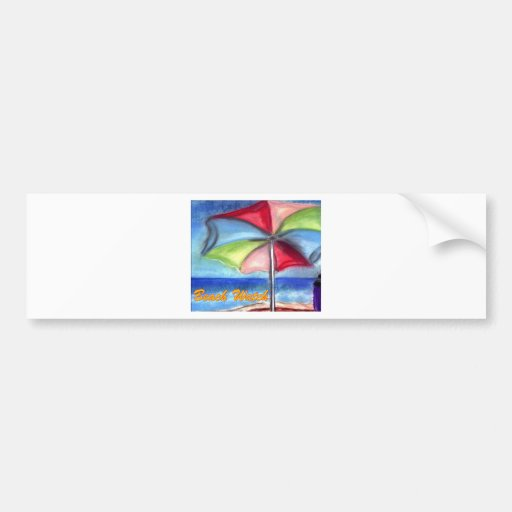 Beach watch Umbrella Bumper Stickers