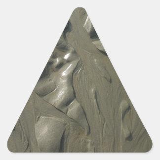 Beach Water Erosion Triangle Sticker