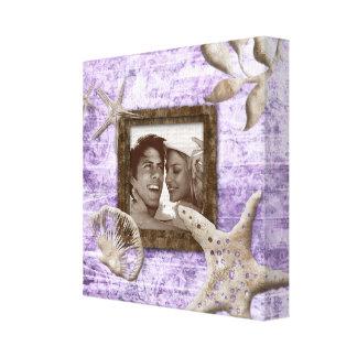 Beach Wedding Canvas Print Photo Template Purple