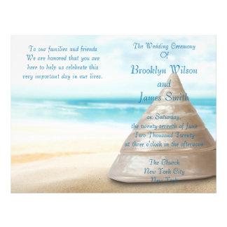 Beach Wedding Ceremony Program Flyer