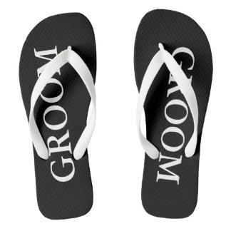 Beach Wedding Flip Flops for Bride and Groom Thongs