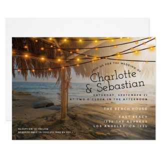 Beach Wedding Personalized Card