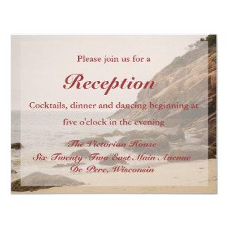 Beach Wedding Reception Card - Rocky Beach