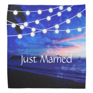 Beach Wedding Romance Glowing Lights Bandana