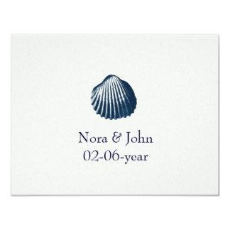 beach wedding RSVP 11 Cm X 14 Cm Invitation Card