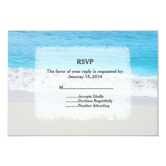 Beach wedding RSVP beach1 9 Cm X 13 Cm Invitation Card