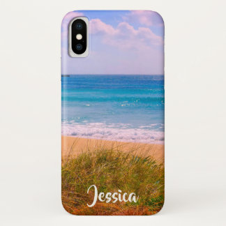 Beach with Dunes Personalised Name iPhone X Case