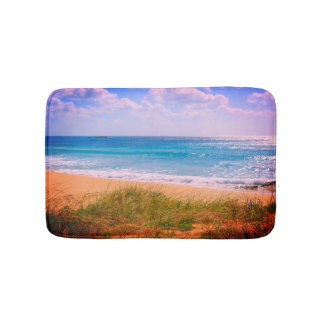 Beach with Golden Sand Bath Mat