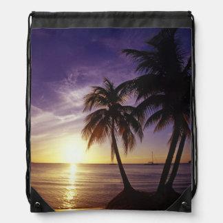 Beaches at Negril, Jamaica 3 Drawstring Bag
