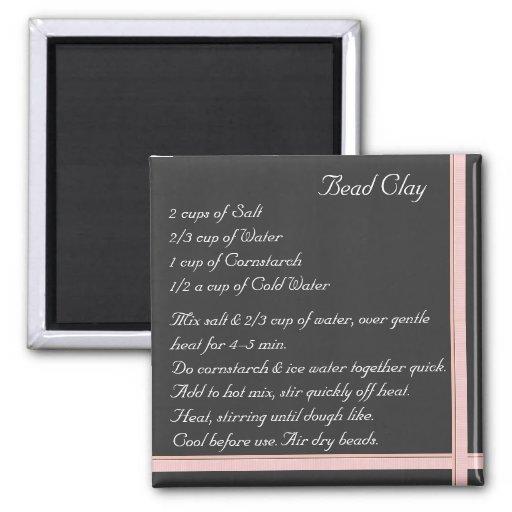Bead Clay Recipe Magnet ribbon