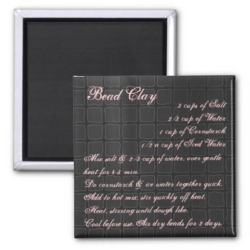 Bead Clay Recipe Magnet silk
