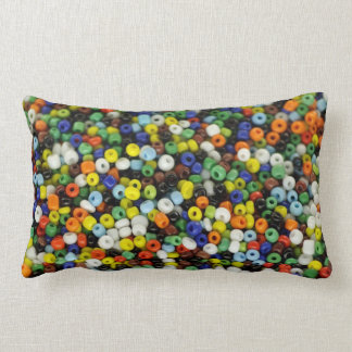 Beads Wrapped Canvas Lumbar Cushion