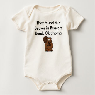 Beaer, They found this Beaver in Beavers Bend, ... Baby Bodysuit