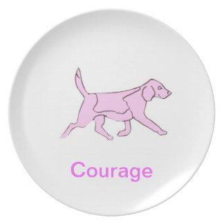 Beagle Courage Cancer Awareness Plate