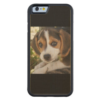 Beagle Dogs Carved Maple iPhone 6 Bumper Case