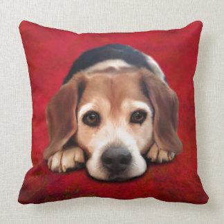 Beagle Fine Art Dog Art Painting Throw Pillow