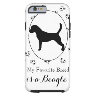 Beagle Hearts and Paw Prints Tough iPhone 6 Case