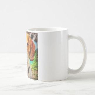 Beagle in Oil Basic White Mug