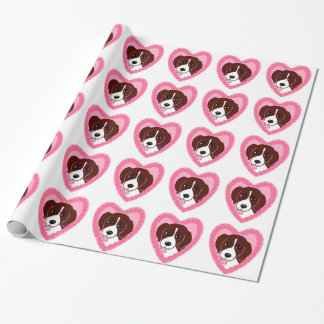 Beagle Love Pattern Wrapping Paper
