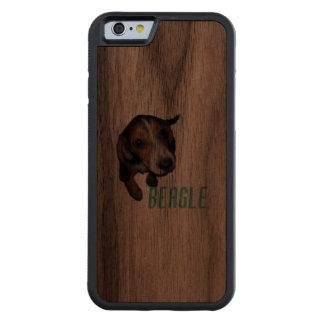 Beagle Puppy Sitting Down Carved Walnut iPhone 6 Bumper Case