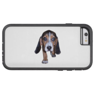 Beagle Puppy Walking - Pick Your Background Color Tough Xtreme iPhone 6 Case