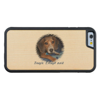 Beagle Puppy with Attitude Carved Maple iPhone 6 Bumper Case