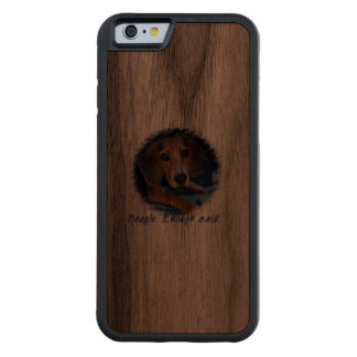 Beagle Puppy with Attitude Carved Walnut iPhone 6 Bumper Case