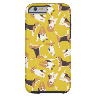 beagle scatter yellow tough iPhone 6 case