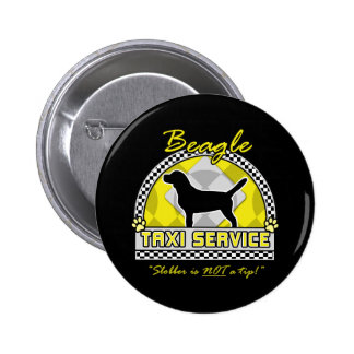 Beagle Taxi Service 6 Cm Round Badge