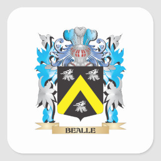 Bealle Coat of Arms Square Stickers